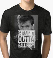 Straight Outta Gallifrey- TENNANT Tri-blend T-Shirt