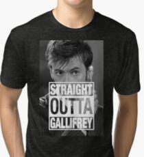Straight Outta Gallifrey- TENNANT Tri-blend T-Shirt