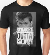 Straight Outta Gallifrey- TENNANT T-Shirt