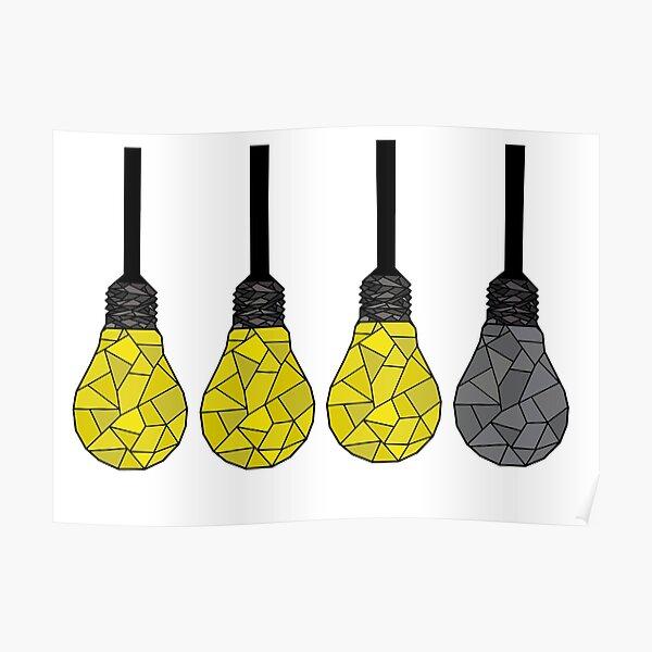 3 lights are lit judge Poster