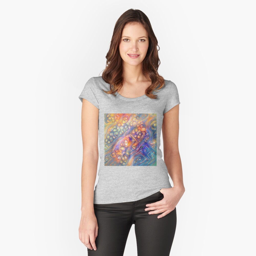 DeepDreamed Fitted Scoop T-Shirt