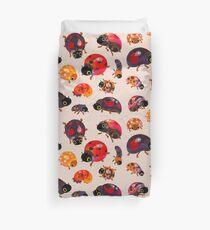 Lady beetles Duvet Cover