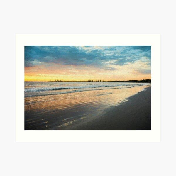 Sunrise at Port Fairy  (Digital Painting) Art Print