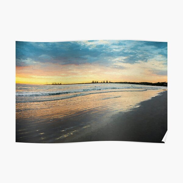 Sunrise at Port Fairy  (Digital Painting) Poster