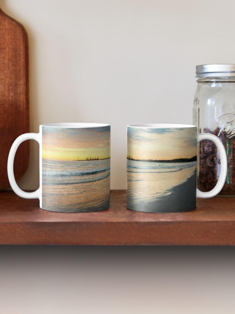 Alternate view of Sunrise at Port Fairy  (Digital Painting) Mug