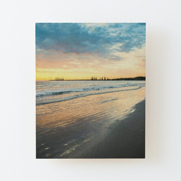Sunrise at Port Fairy  (Digital Painting) Wood Mounted Print