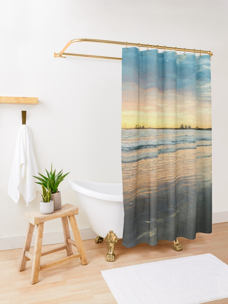 Alternate view of Sunrise at Port Fairy  (Digital Painting) Shower Curtain