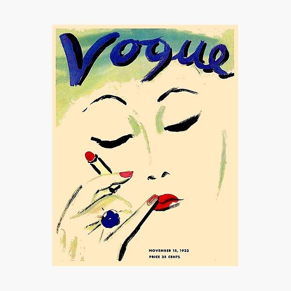 VOGUE : Vintage 1933 Magazine Makeup Advertising Print Photographic Print