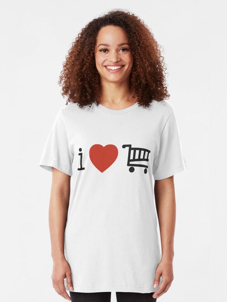Alternate view of i love shopping Slim Fit T-Shirt