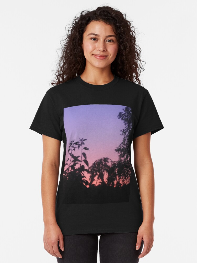 Alternate view of Sunset in the trees Classic T-Shirt