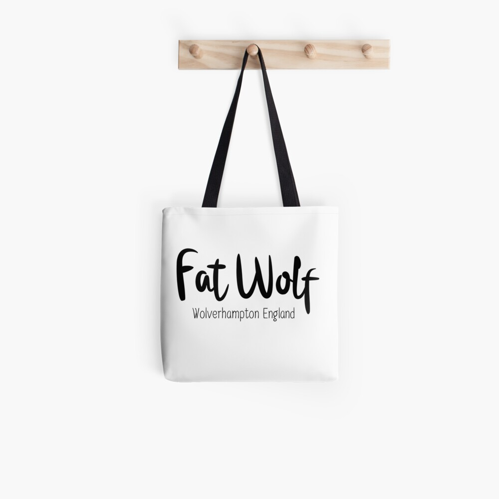 Fat Wolf Logo (Black) Tote Bag