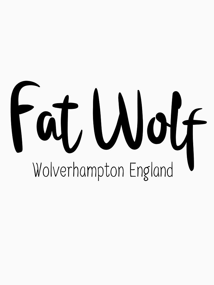 Fat Wolf Logo (Black) by danbadgeruk