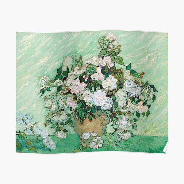 Vincent Van Gogh Still Life - Vase with Pink Roses Poster