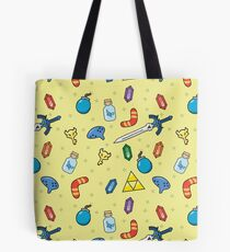 Zelda Inspired Item Bag Pattern Tote Bag