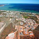 """""""Denham Town Aerial"""" Shark Bay, Western Australia by wildimagenation"""