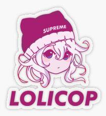 Supreme Lolicop (Pink Blush) LIMITED ED. Transparent Sticker