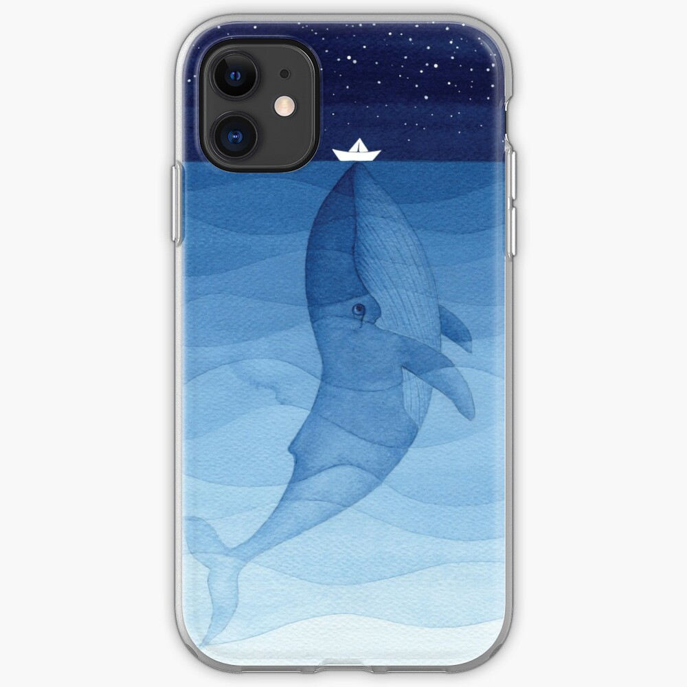 Blue whale, sea animal iPhone Case & Cover