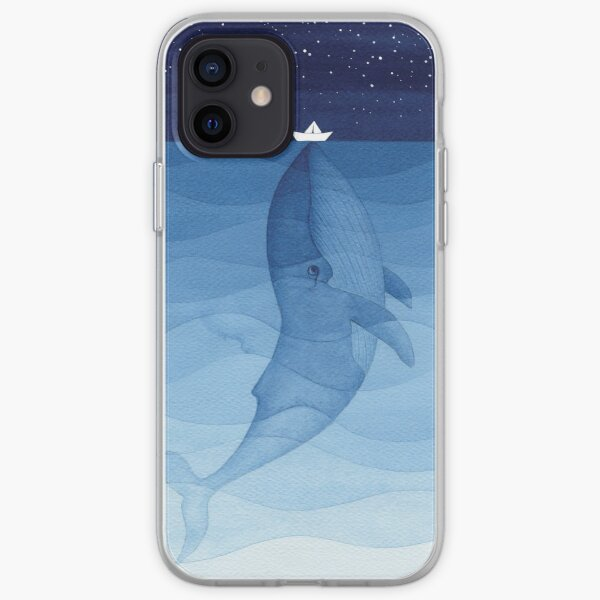 Blue whale, sea animal iPhone Soft Case