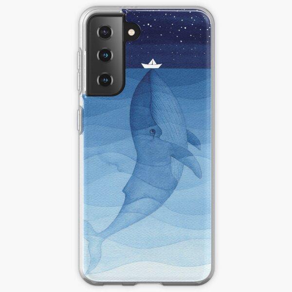 Blue whale, sea animal Samsung Galaxy Soft Case