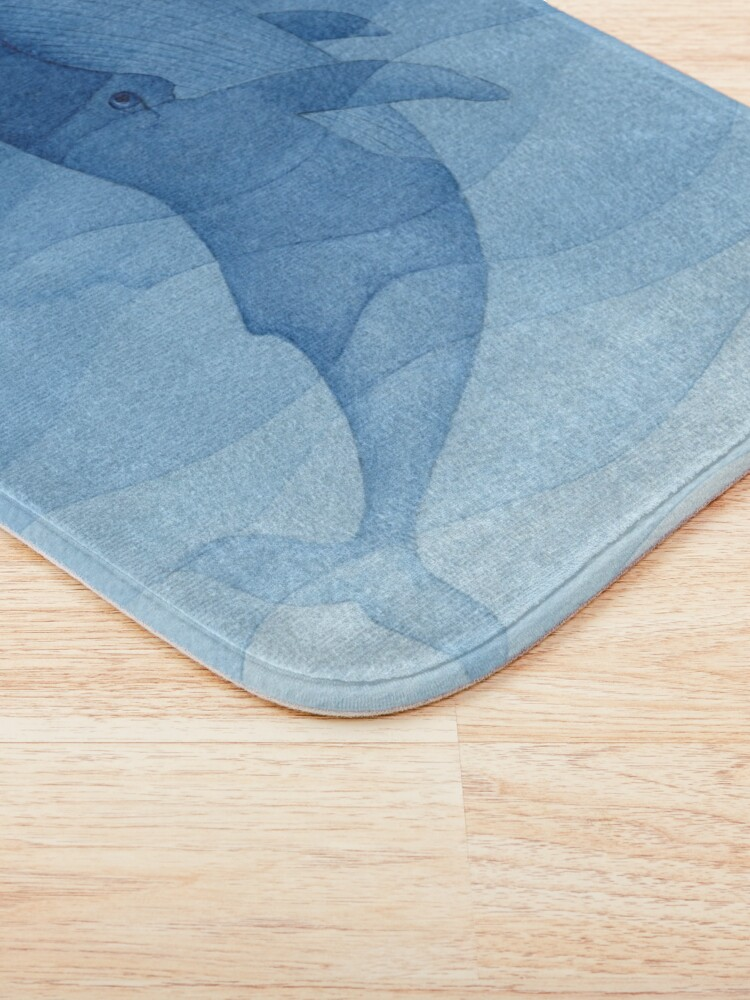 Alternate view of Blue whale, sea animal Bath Mat