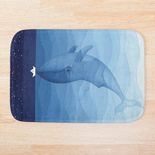 Blue whale, sea animal Bath Mat