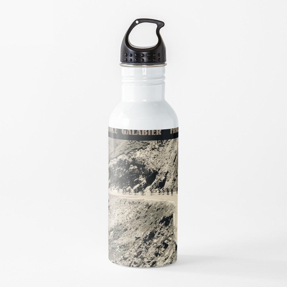 TOUR de FRANCE: Vintage Galabier Mountain Pass Advertising Print Water Bottle