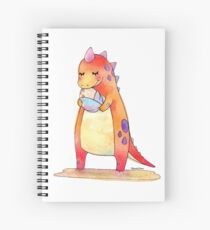 Cute Dino Mother & Baby Egg Spiral Notebook