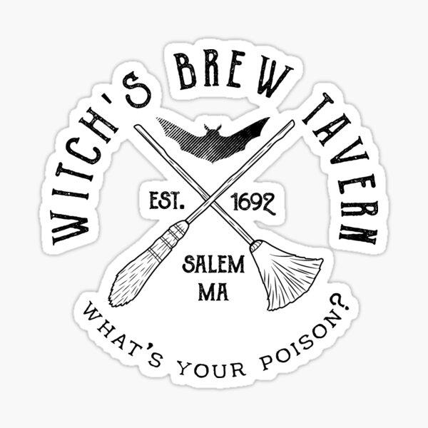 Halloween Witchs Brew Tavern Sticker