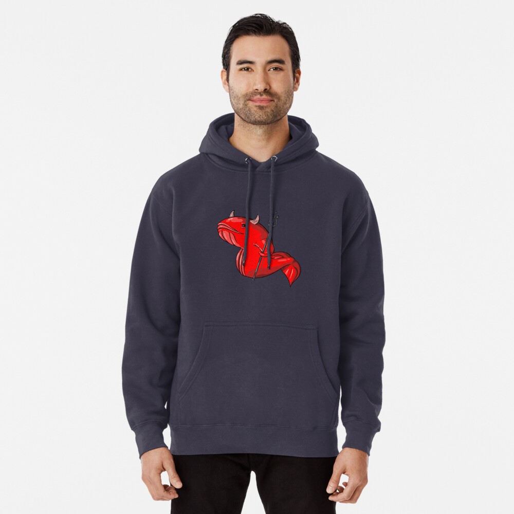 Demon Whale Pullover Hoodie