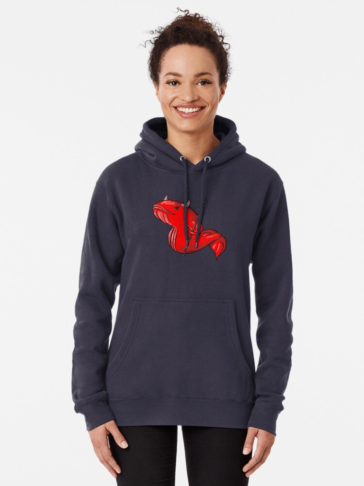 Alternate view of Demon Whale Pullover Hoodie