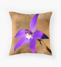 Purple Cuckatoo Orchid - Para Wirra Recreation Park, SA Throw Pillow