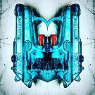 Robot water pistol head by Artworksy