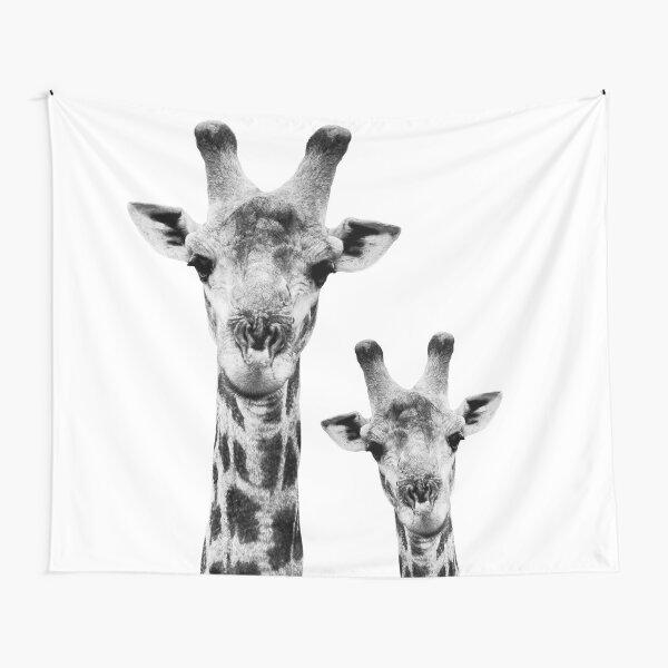 SAFARI PROFILE - GIRAFFES WHITE EDITION Tapestry