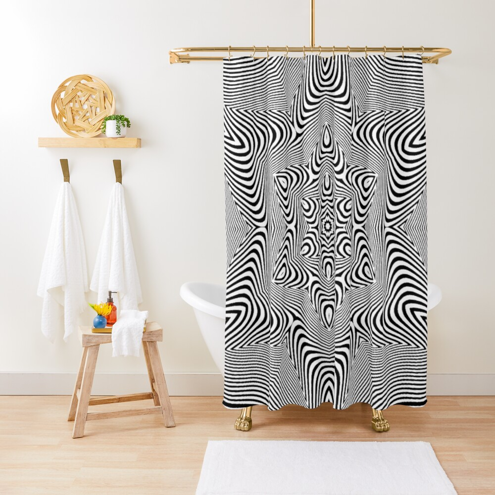 Visual Optical Illusion Shower Curtain