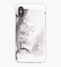 Totoro sumi-e iPhone Case