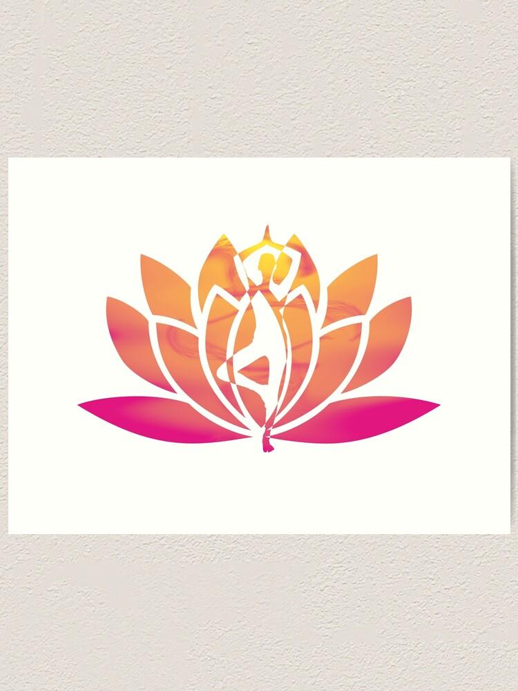 Lotus Yoga Art Print By Frankijordan Redbubble