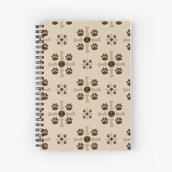 Snouts, Paws, and Bones Spiral Notebook