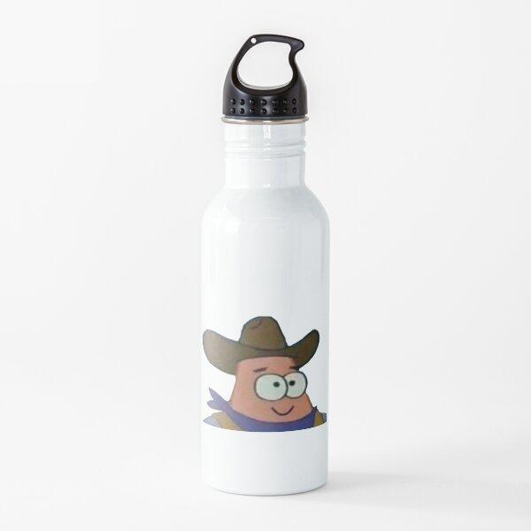 Cowboy Patrick Star Spongebob Meme Water Bottle