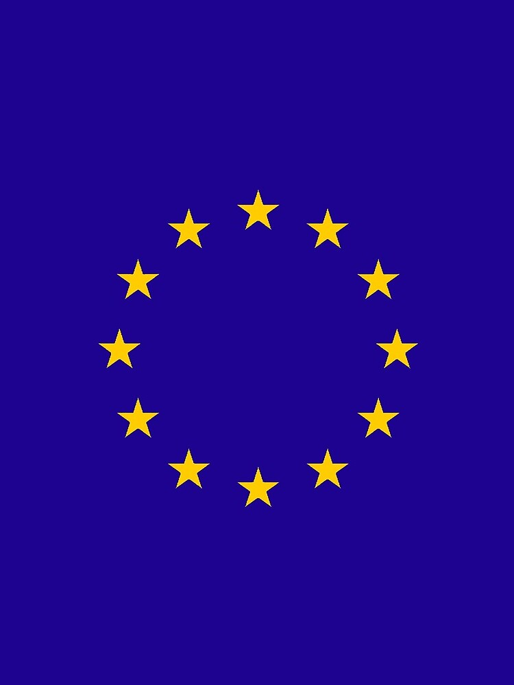EU, European, Remainers, STARS, Flag, Euro, Flag of Europe, European Union, Flag, Brussels. by TOMSREDBUBBLE