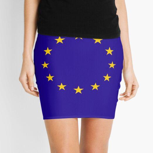 EU. European, Remainers, STARS, Flag, Euro, Flag of Europe, European Union, Flag, Brussels. Mini Skirt
