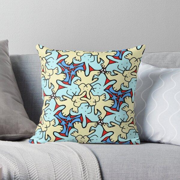 Bunny tessellation Throw Pillow