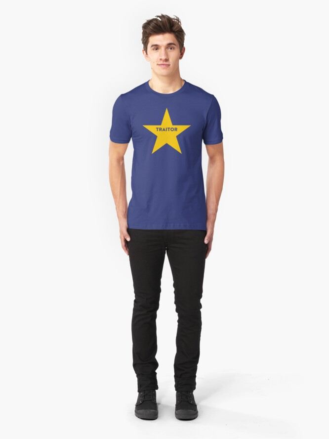 Alternate view of NDVH Remainer Traitor Slim Fit T-Shirt