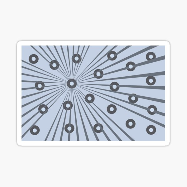 Abstract in Grey and Blue Sticker