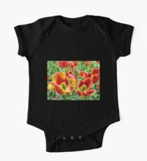 Yellow and Red Tulips For Everyone One Piece - Short Sleeve