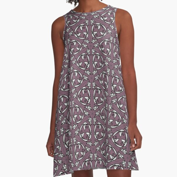 squiggle flight cycle A-Line Dress