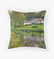 River Medway at East Farleigh  Throw Pillow