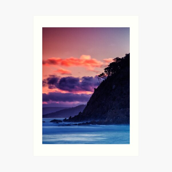 Park Beach At Sunset. Art Print