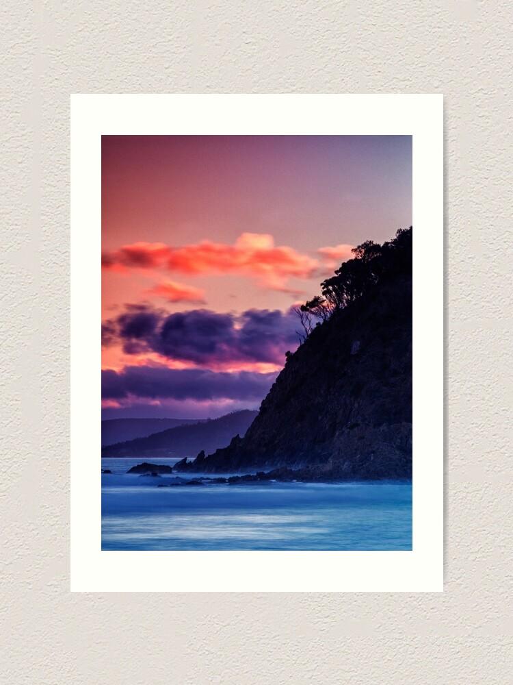 Alternate view of Park Beach At Sunset. Art Print