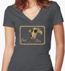 Zen Dog Women's Fitted V-Neck T-Shirt