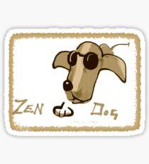 Zen Dog Sticker